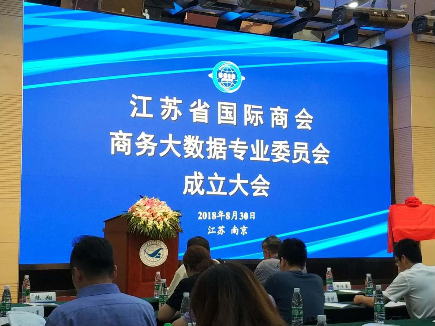 江苏省国际商会大数据专委会成立大会(南京)成功召开